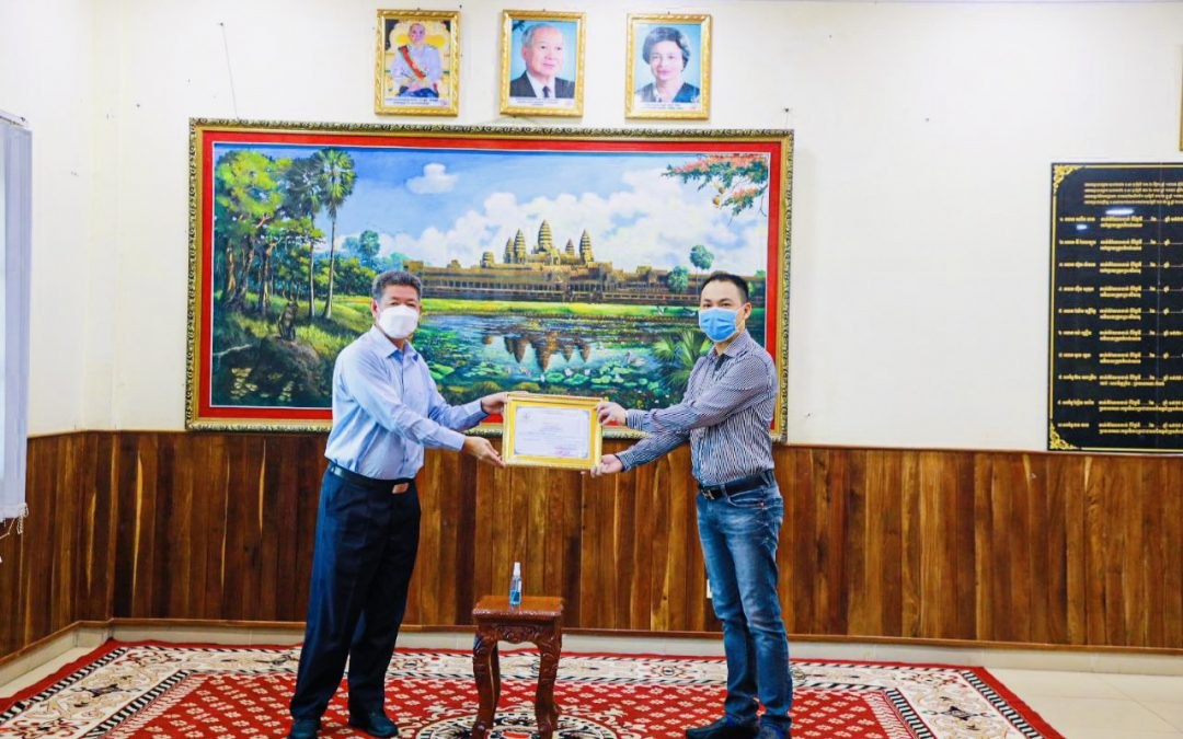 Won Majestic Donates to Sihanoukville Local Government to Fight Against COVID-19